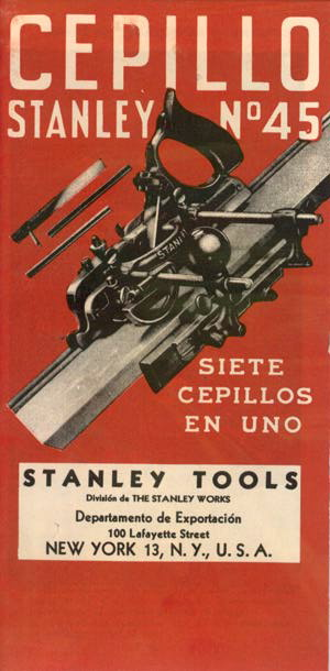 Stanley No 45 Combination Plane (in Spanish)